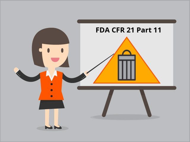 Good practice dictates that controlled records should be managed in compliance with the FDA CFR 21 part 11 (aka Part 11) guidelines.